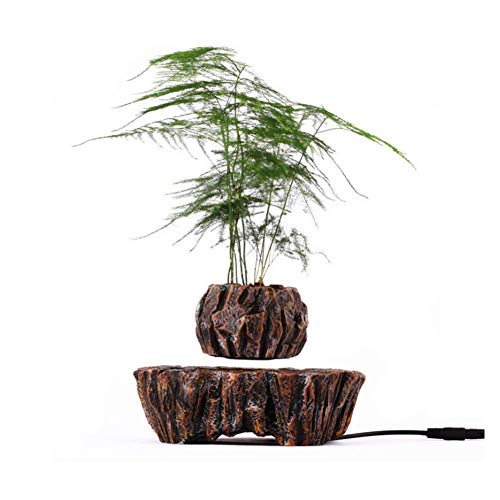 Magnet Schwebender Luft-Bonsai-Topf,Floating Flower Planter für kreative Geschenke Home Office Dekoration Magic Suspension Jar (ohne Pflanzen) -