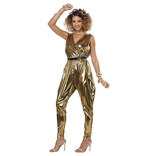 LADIES 70'S GLITZ N GLAMOUR COSTUME - LARGE (Womens Disco Kostüm)