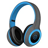 TYWZF Bluetooth-Kopfhörer, Drahtlose Kopfhörer Head-Mounted Bluetooth 4.1 Noise Cancelling Stereo Sicherer Einsatz Karte Fit Für Sport Gym Gym,Blue