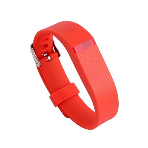 Fulltime(TM) Bracelet de rechange avec boucle en métal pour Fitbit Flex Taille unique Orange