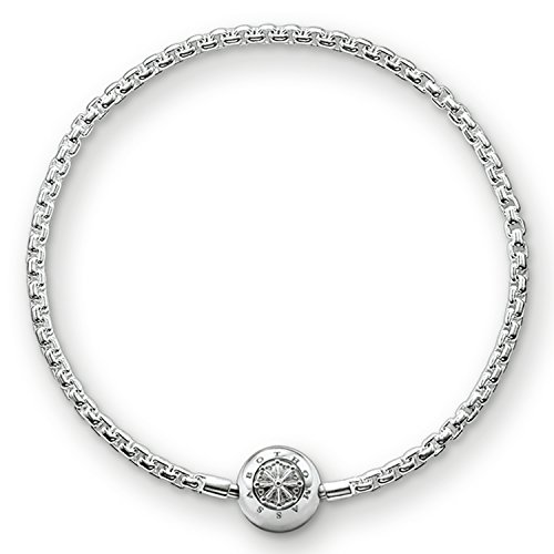 Thomas Sabo Damen Herren-Armband Karma Beads 925 Sterling Silber Länge 15 cm - Silber Frauen Sterling Uhren