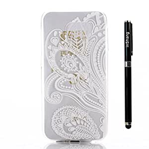 Custodia per Galaxy S6 EDGE , inShang Moda Cover case morbida per Samsung Galaxy S6 edge + inShang Logo pennino di alta classe