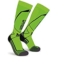 Oxyburn Run Evobright Knee High Energizer Compression Calcetines, Infantil, Lizard/Black, Talla 42/44