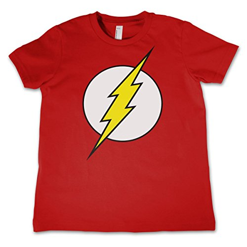 DC Comics The Flash Kid's T-Shirt Logo Roter Blitz (M)