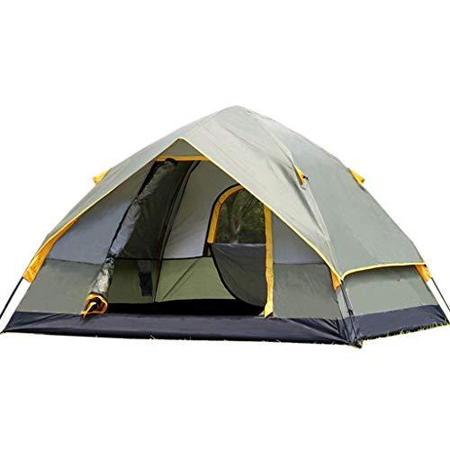 Tenda automatica all'aperto 3-4 persone due camere e una sala doppia tenda da campeggio antipioggia (2 dimensioni opzionali)