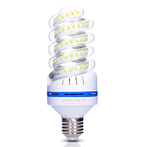20w Energiesparlampe (E27 LED Lampe, 16W ersetzt 150W LED Birne, Kaltweiss 6000K, 1600 lumen LED-Leuchtmittel 20 watts, 360 Grad Abstrahlwinkel, Nicht Dimmbar Energiesparlampe,LED Birnen E27, Energiespar-Strahler, 1er Pack)