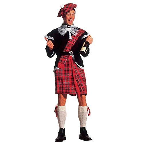 Schotten Kostüm Schottenkostüm Herren XL (54) Schottenrock Herrenkostüm Fasching Schotte Faschingskostüm Schottisches Karnevalskostüm Schottland Mottoparty Verkleidung Karneval Kostüme Männer