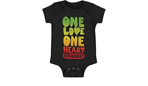 "Tema Bob Marley /""One Love One Heart/"" Tutina t-shirt per neonati"