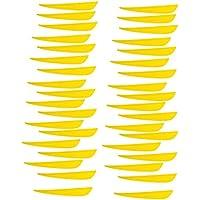 B Baosity Plumas Paletas de Flecha de Tiro con Archero Entrenamiento Duradero Plasticó - 36 Piezas Amarillas, 10 x 1.3cm