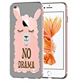 blitz versand germany ® LAMA NO Drama Schutz Hülle Transparent TPU Cartoon Lama Drama M9 Samsung Galaxy Alpha