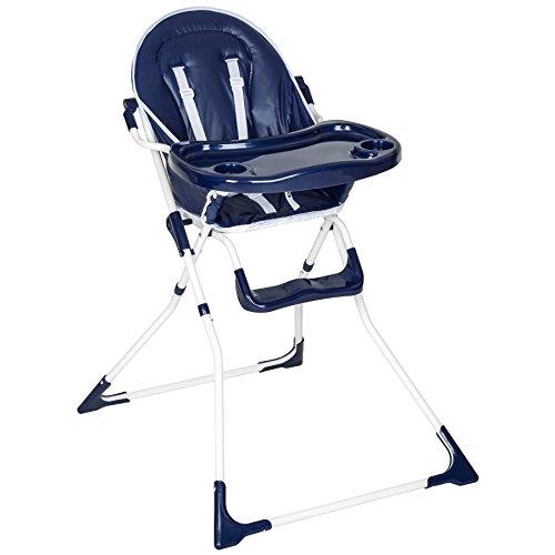 TecTake Chaise haute de bébé pour enfants grand confort bleu