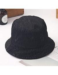 Y-XM Vaquero Cuenca Sombreros Mezclilla Unisexo Anti-UV Plegable Cubo Sombreros  Sol Gorra 7f2b9b55728