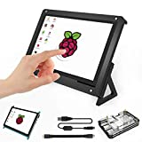 For Raspberry Pi 7 Inch Touch Screen TFT LCD Input HDMI Monitor With 7 Inch Screen Case and 5 Layers Pi 3 B+ Case for Raspberry Pi