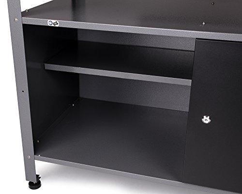 Ondis24 stabile 120 cm breite Montagewerkbank Werkstatteinrichtung Werkstatt Werkbank Werktisch mit abschließbarer Tür, stabiles Modell mit höhenverstellbaren Füßen - 4