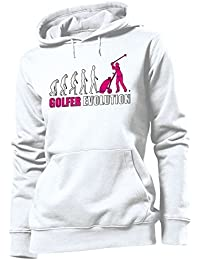 GOLFER EVOLUTION - Cooler Comedy Damen Kapuzenpullover S-XL - Deluxe