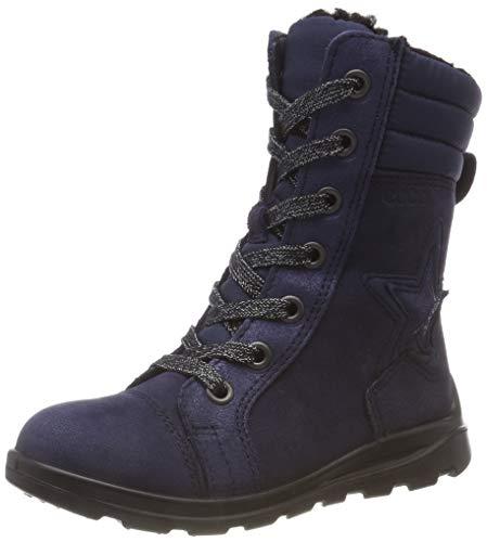 Ecco Mädchen Janni Combat Boots, Blau (Night Sky 51117), 30 EU