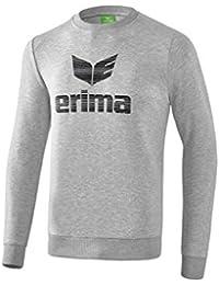 erima Essential Sweatshirt Jersey, Hombre, Hellgrau Melange/Schwarz, Large