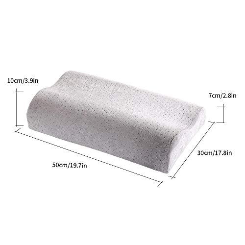 Memory Foam Nackenkissen zum Schlafen Orthopädische Schmerzlinderung Bettwäsche Pad Solid Velvet Pillow Health Care Cervical