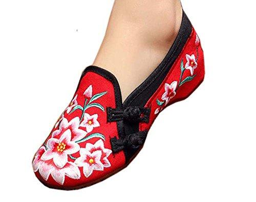 Vintage Design chinesische Schuhe bestickt Wohnungen Cheongsam Schuhe, # 03 (Rabatt Schuhe Designer Kinder)