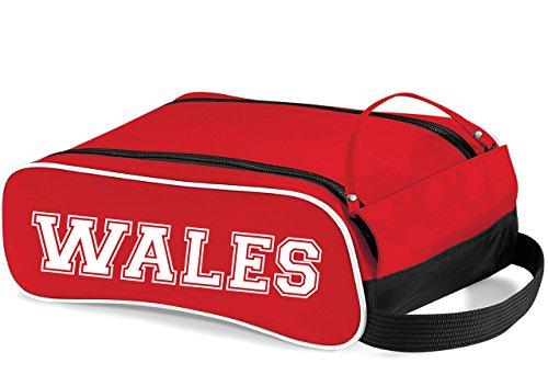 T Shirt printing 4 U Wales Kofferraum Tasche Ideal Geschenk Schuh Tasche für Fußball, Rugby, Laufen, rot