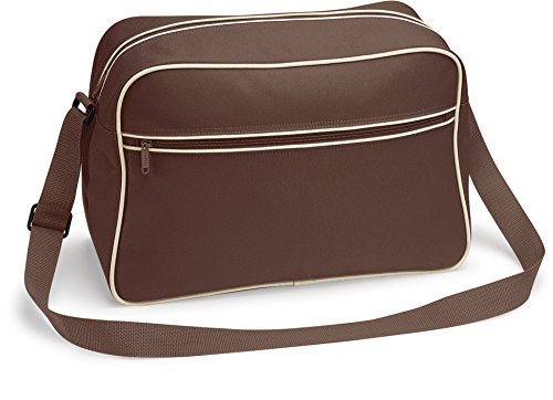 Bag Base Retro Shoulder Bag, Chocolate/Sand, ca. 40 x 28 x 18 cm Preisvergleich