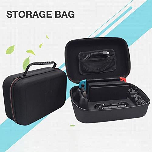 geruite Hard Drive Case, Tragbare Hard Carry Case Reisetasche mit Fächern für Nintendo Switch Hard Carry Case