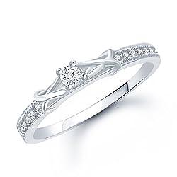 V. K. Jewels Brass Ring For Women - Silver(Vkfr1049R10)