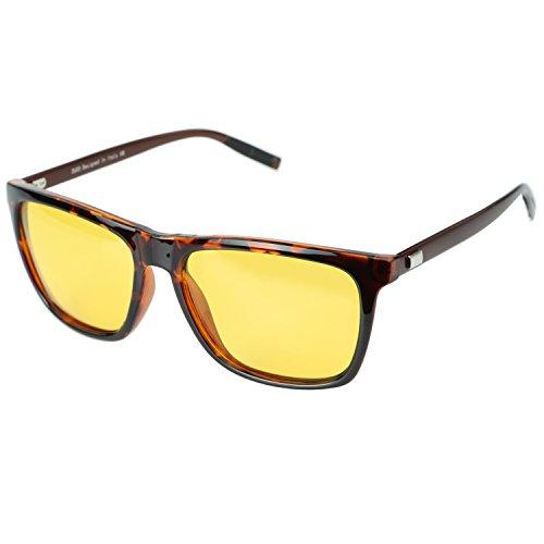 DUCO Nachtsicht Fahren Gläser Für Scheinwerfer Blendfreie Fahren Polarisierte Brillen 3029 (Tortoise)