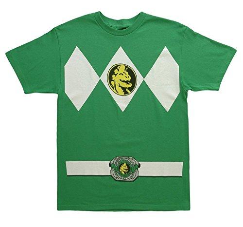 Shirt Green Ranger T Kostüm - Power Rangers grün Rangers Kostüm Erwachsene T-Shirt, XX-Large
