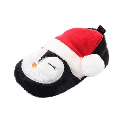 Pwtchenty Babyschuhe Weihnachten Winter Baumwolle Schuhe Jungen Mädchen Fleece Booties Bio Baumwoll-Futter und rutschfeste Greifer Winterschuhe