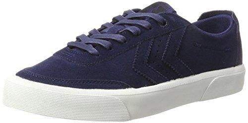 Hummel Unisex-Erwachsene Stockholm Suede Low Sneaker, Blau (Peacoat), 44 EU