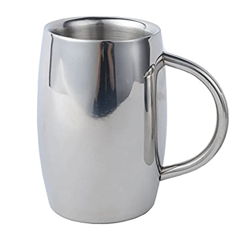 Tasse à Thé, Isenretail Bocks à bière, acier inoxydable thé/café/Lait/eau Coupe, Double-mur isotherme avec 400 ML de grande capacité