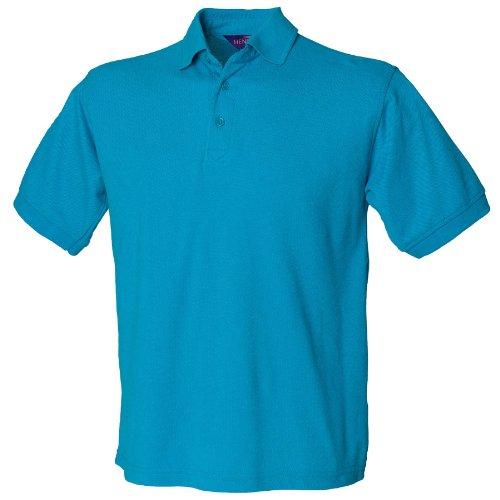 Henbury 65/35-polo Blu