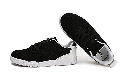 happylove  Men's Sneakers Casual Leisure Boots, Bride de cheville homme garçon Noir