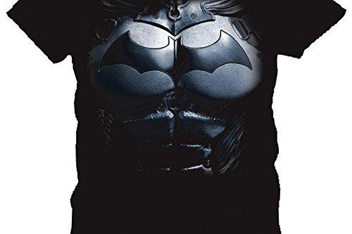 Batman Herren T-Shirt Schwarz Schwarz