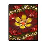 DongMen Kundenspezifische Empfindliches Fraktal Bild Fleece Soft Blanket 102cm x127cm