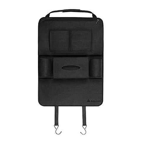 Salcar - Car Seat Organiser Auto Storage Protector bag for iPhone, drinks, tissues, books, umbrellas, CDs, etc.