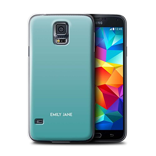 Stuff4 Personalizzato Colori Personalizzati Ombre Custodia/Cover per Samsung Galaxy S5/SV/Teal Ombra Design/Iniziale/Nome/Testo Caso/Cassa