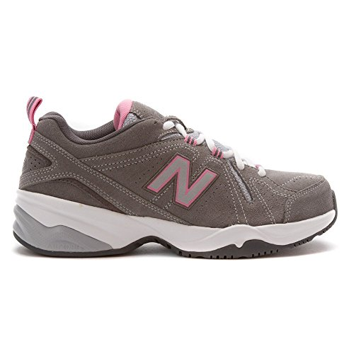 New Balance Women's WX608v4 Grey/Pink Sneaker 10 2A - Narrow Grey/Pink