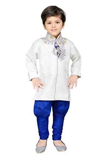 AJ Dezines kids festive and party wear Sherwani for boys (611_BLUE_8)