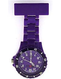 Boxx Classic Purple Rotating Bezel Nurses Fob Watch BOXX30