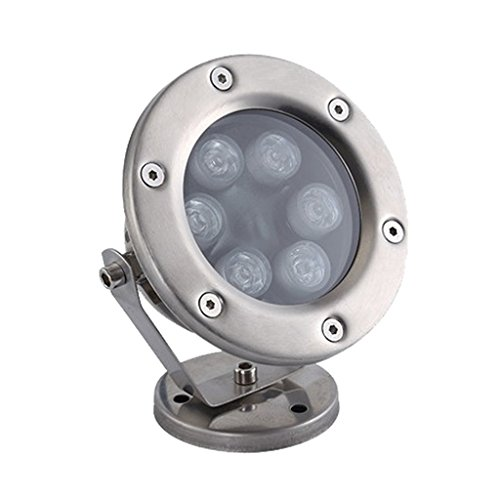 F Fityle 6 LEDs Unterwassertauchlicht Aquarium Spotlight Aquarium Teich - Grün -