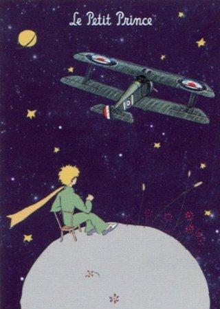 Éditions Clouet 29219 Plakat, Motiv: Der kleine Prinz 'Flugzeug'