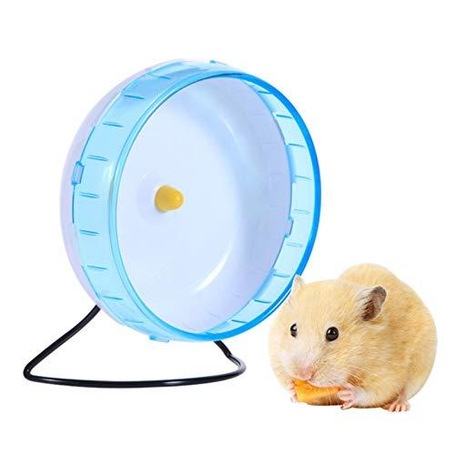 LA VIE Ratte Maus Lauf Übung Scroll Silent Spinner Kunststoff Laufrad für Hamster Gerbil Meerschweinchen Chinchilla Kleines Haustier 21cm Blau