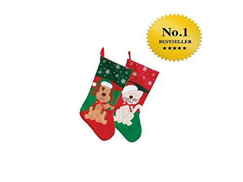 2PACK: Christmas House Pet Weihnachten Strümpfe, 45,7cm (1Hund und 1Cat) von Christmas House -