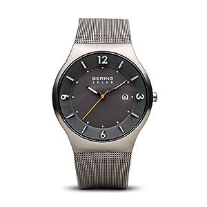 BERING Herren-Armbanduhr Analog Solar Edelstahl 14440-077
