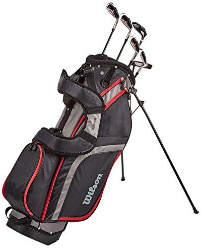 Wilson Staff Herren Golf - Schlägersätze PRO HDX GRA MLH 1/2 SET, Schwarz Rot, LH (Linke Hand), Regular