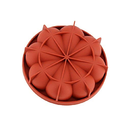 New Arrival Wein Rot Silikon 3D Unregelmäßige Petals Form Form für Mousse Kuchen Pudding Eis Brot Brownie Bakeware Tools Nordic Brownie Pan