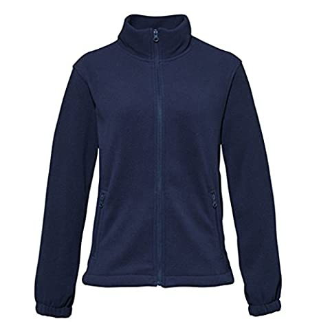 Women's Jacket Full Zip Fleece Cadet Collar Warm and Comfortable By 2786 (Medium, Navy)