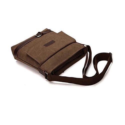 YAAGLE Canvas Freizeit schick Umhängetasche Kuriertasche Herren Tasche Segeltuch Schultertasche Reisetasche-schwarz schwarz